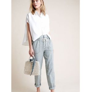 Anthropologie High Rise Seashore Stripe Pants